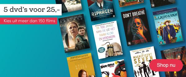5 dvd's voor 25 euro bij bookspot