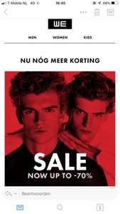 Sale tot 70% bij WE-fashion