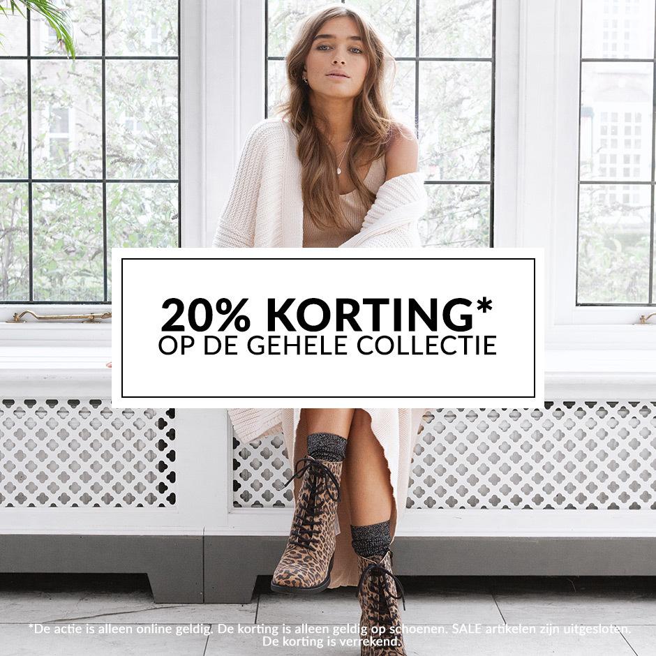 20% korting op de gehele collectie schoenen bij Manfield