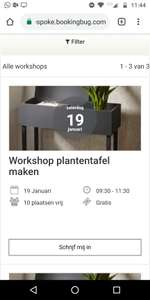 Workshop plantentafel maken Karwei
