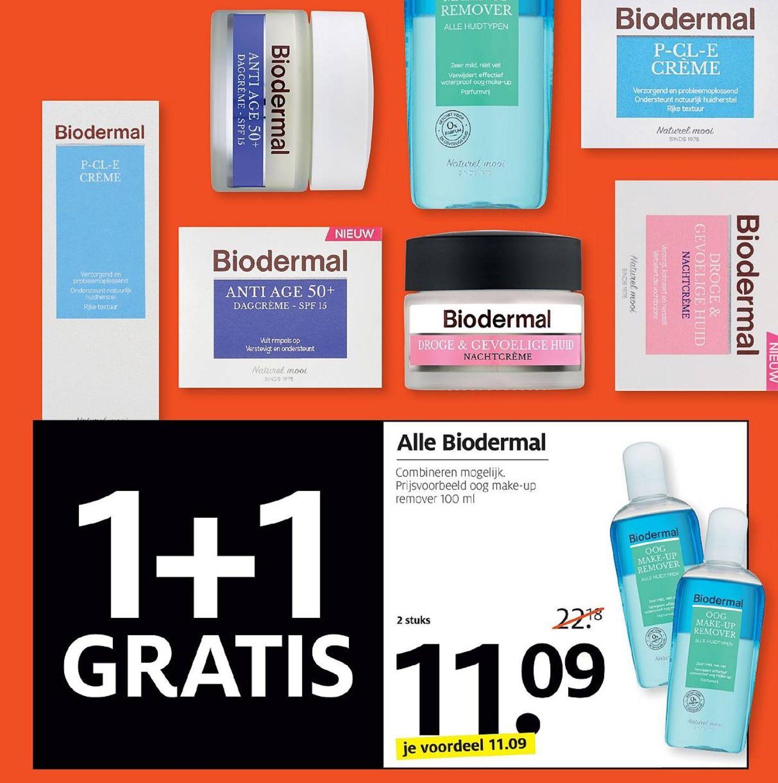 Alle Biodermal 1+1 gratis @Etos