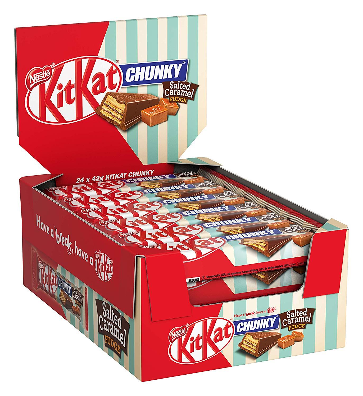 KitKat ChunKy Salted Caramel Fudge 24 x 42g @Amazon.de
