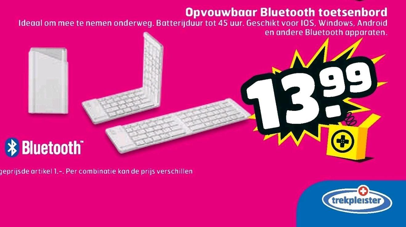 Opvouwbare Bluetooth toetsenbord bij Trekpleister
