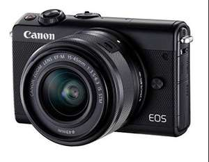Canon EOS M100 + EF-M 15-45 mm IS STM voor 239,-*  @ Amazon.de