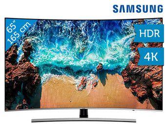 """Samsung 65"""" 65NU8500 (Benelux model) Curved 4K TV (100 Hz)"""