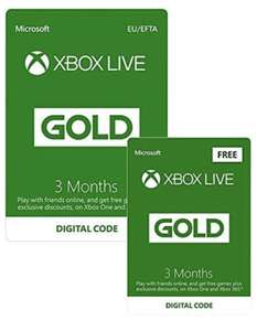 Xbox Live 3 Maanden Gold Membership + 4 Maanden Gratis | Xbox One/360 - Download Code @ Amazon.co.uk