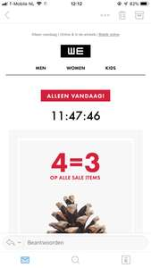 4=3 op sale bij we fashion