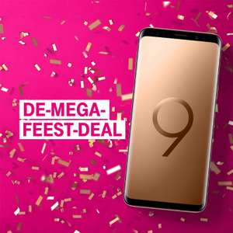 De-Mega-Feest-Deal -  Extra korting op Samsung Galaxy S9 met Unlimited @ T-Mobile