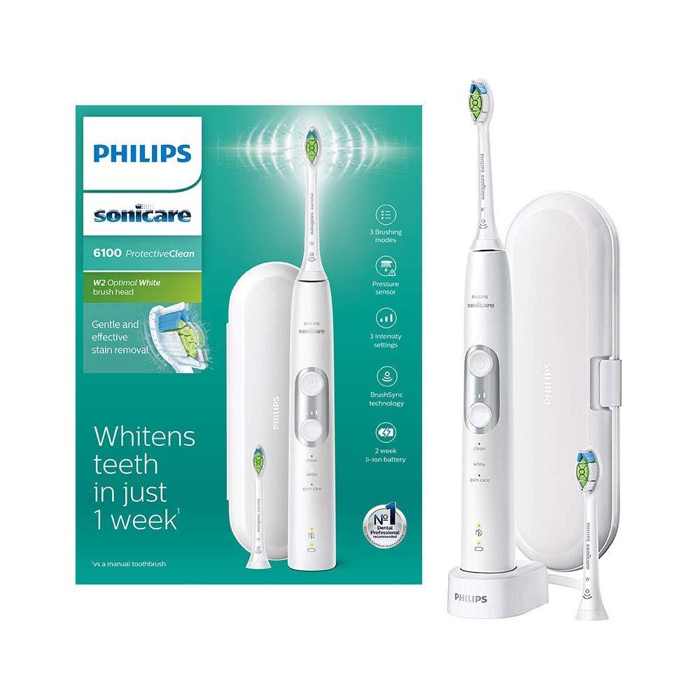 [Amazon UK] Philips Sonicare ProtectiveClean 6100 elektrische tandenborstel + 2 Borstelkop