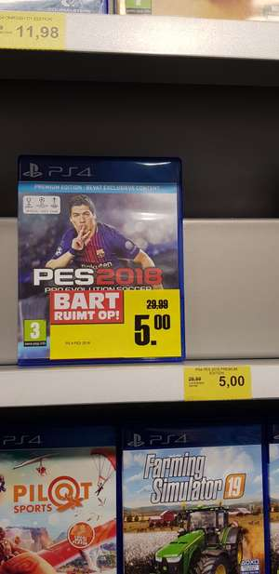 PES 2018 PS4 bij Bart Smit Den Bosch