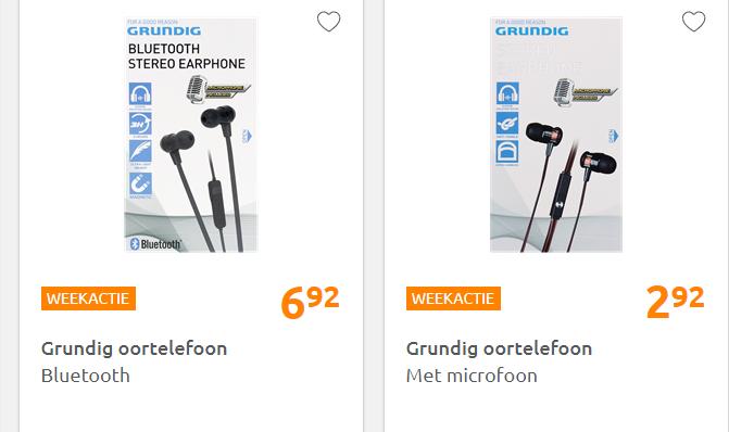 [WEEK ACTIE] Goedkoop (bluetooth)  oortjes van Grundig @ Action.