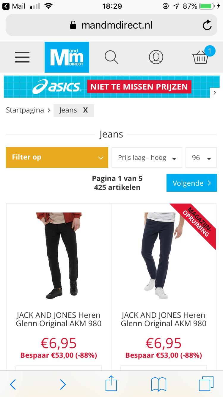 Diverse merk spijkerbroeken met hoge korting