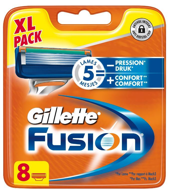 Gillette Fusion Mesjes (8 Stuks) voor 17,45! Vanaf 30 euro gratis verzenden
