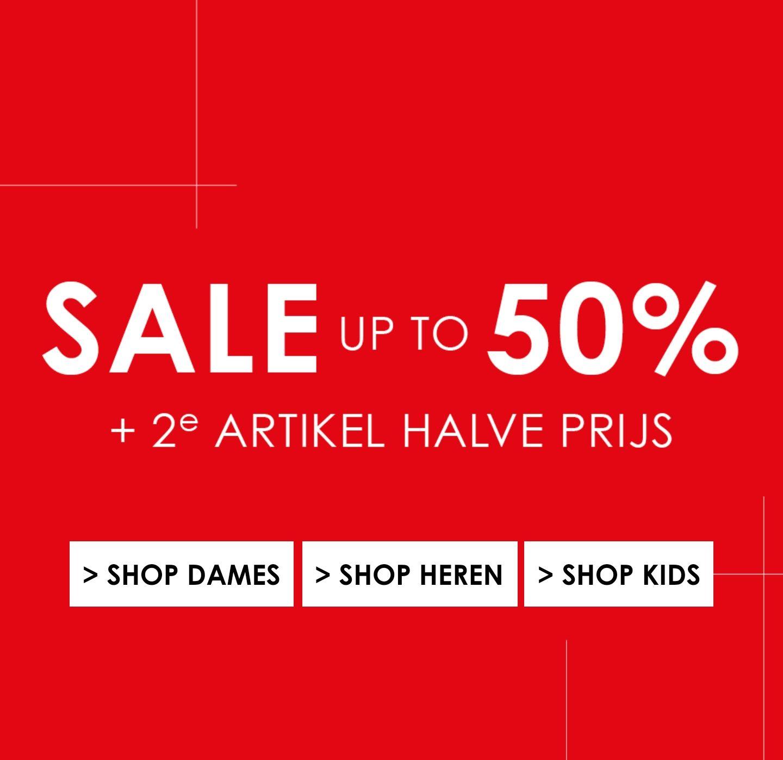 Sale oplopend tot 80% + 2é artikel halve prijs @JeansCentre