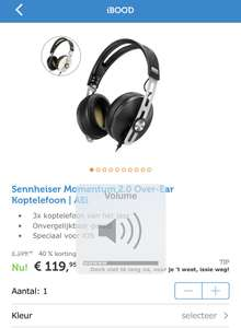 Sennheiser Momentum 2.0 AEi Koptelefoon over ear
