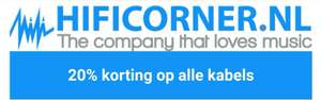 Alleen vanavond 20% korting op alle kabels bij Hificorner.nl