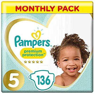 [prime] Pampers Premium Protection luiers maat5 maandbox (136 luiers) @ Amazon.co.uk
