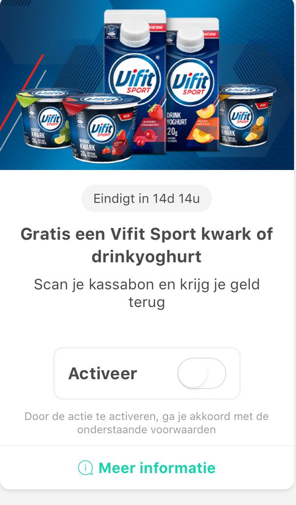 Probeer vifit sport kwark of drinkyoghurt gratis @ Tessa