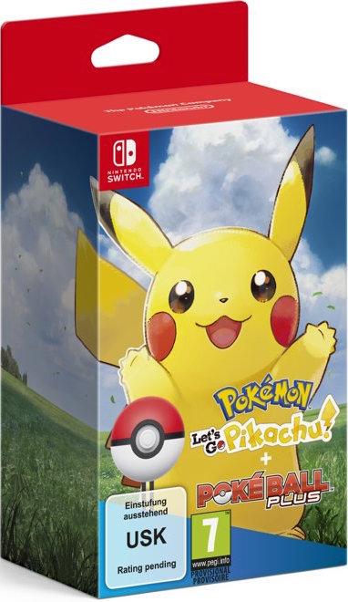 Pokémon Let's Go Pikachu + Poké Ball Plus voor €77 en gratis verzending