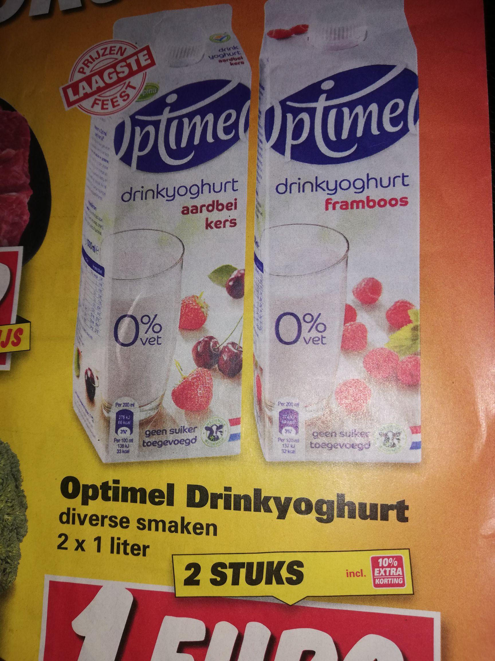 Optimel drinkyoghurt 2voor 1 euro en eieren voor 0.79cent