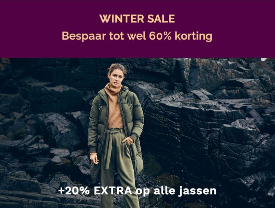 ALLEEN VANDAAG: 20 % extra korting op alle jassen (ook sale!)@ Miinto
