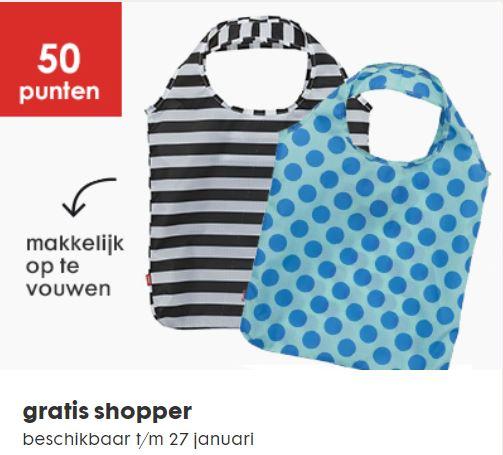 GRATIS artikelen (inlevering punten) o.a. shopper voor 50 punten @ HEMA