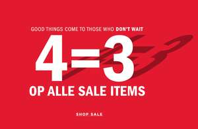 4 Halen 3 Betalen op alle SALE @ We Fashion dames - heren - kids