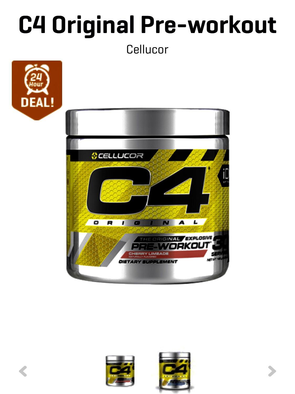 C4 Pre workout 60 doseringen van €35 van €19,90