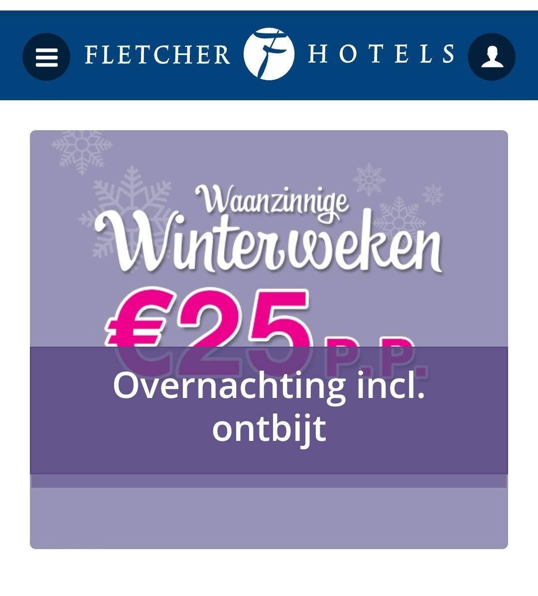 Waanzinnige winterweken bij Fletcher hotels! 25, - inclusief ontbijt p.p!