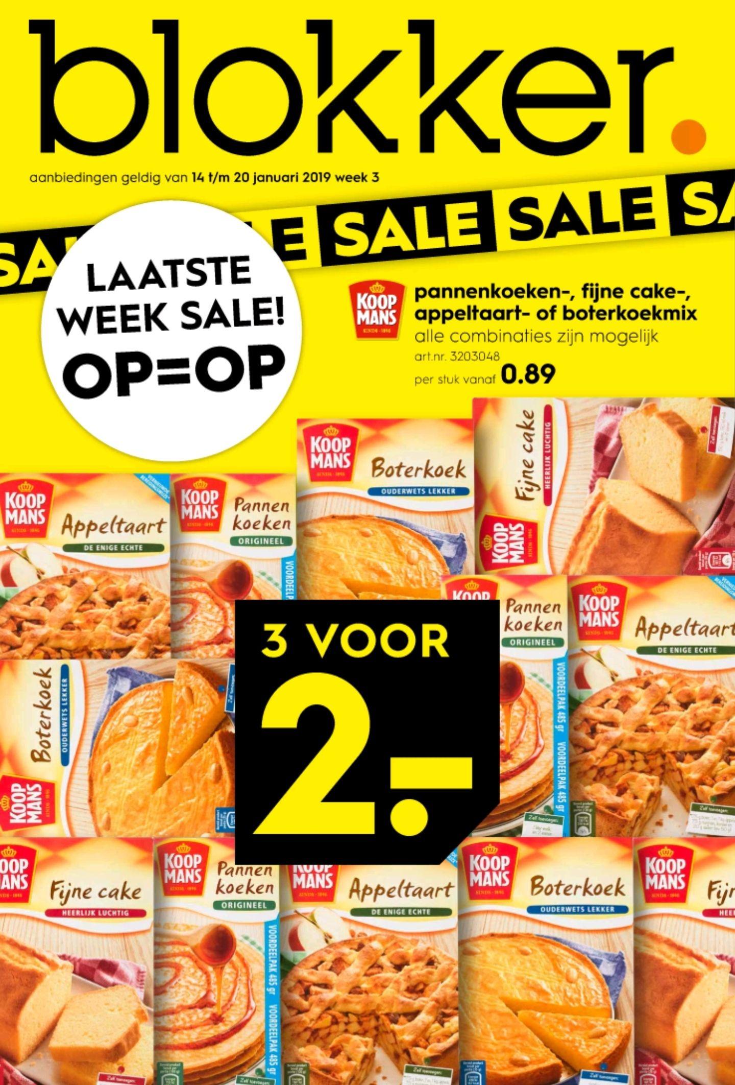 Alle Koopmans 3 voor 2 euro bij Blokker