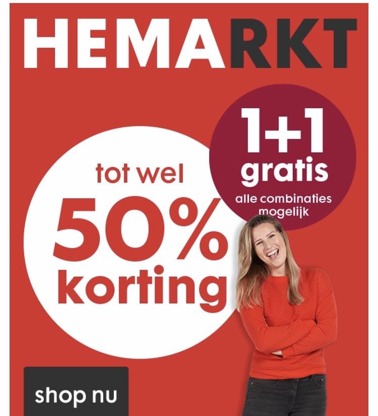 HEMARKT 1+1 gratis! @ HEMA