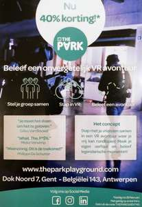 [BE] 40% korting op VR experience in The Park Gent of Antwerpen