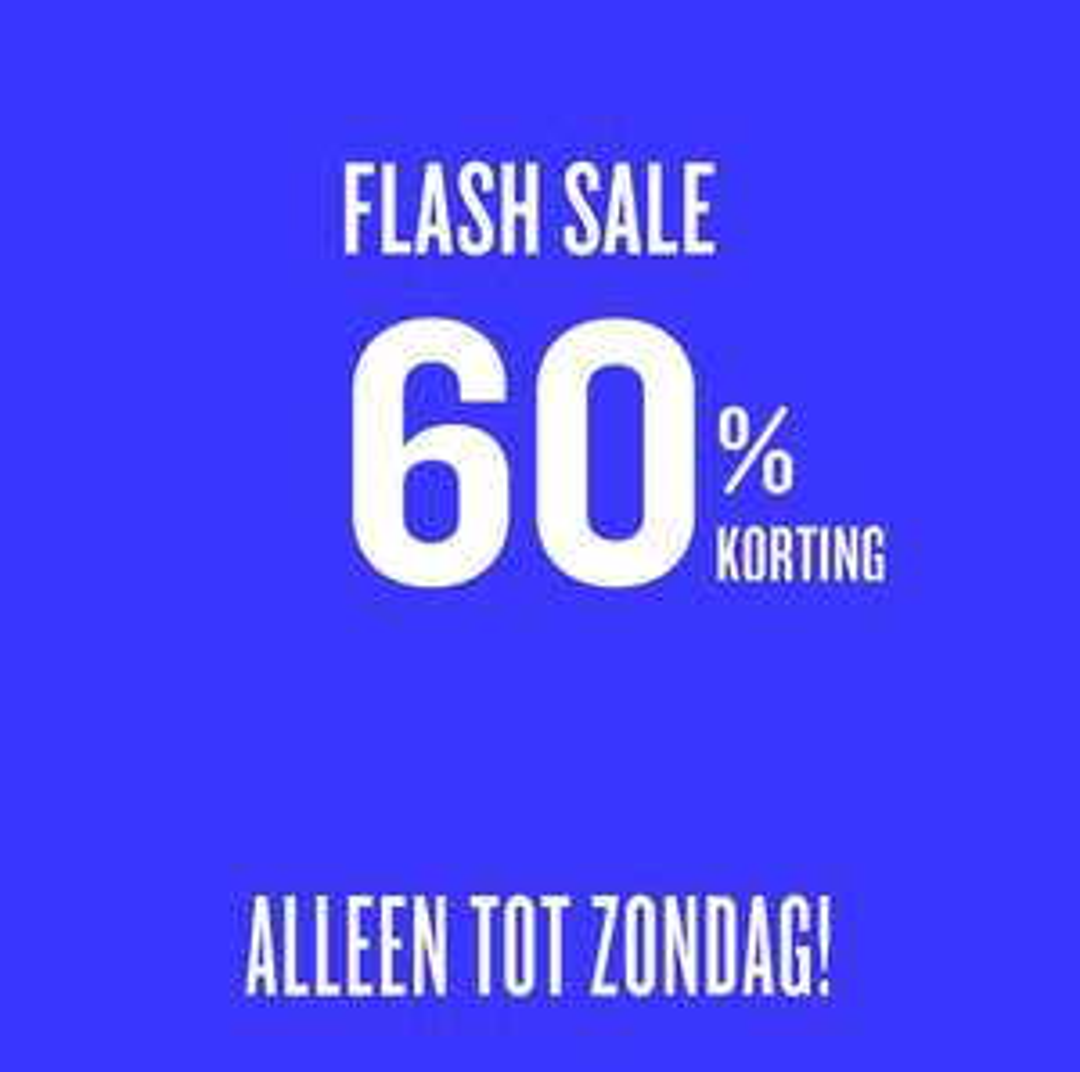 Flash sale 60% korting @Desigual