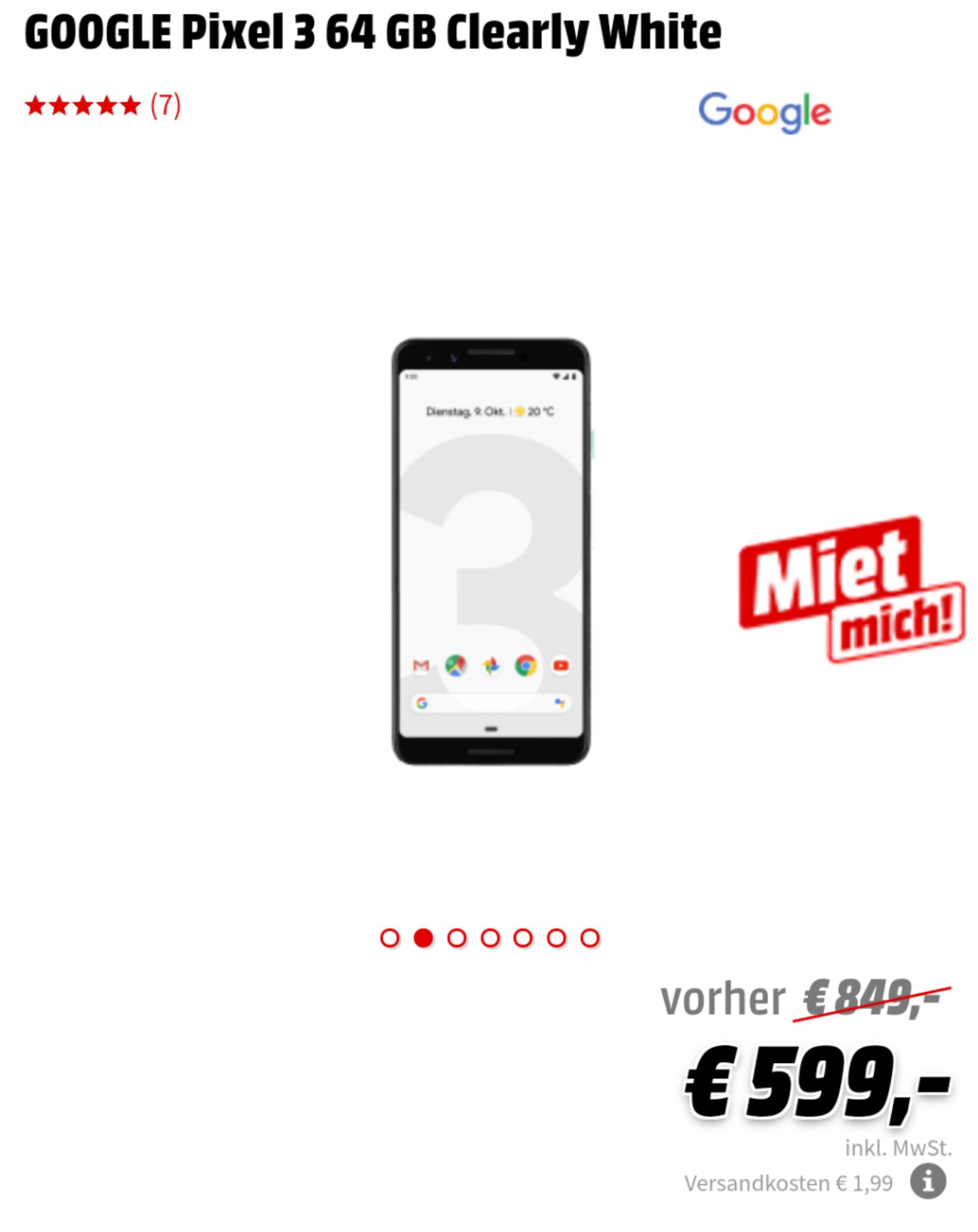 8654557adee grensdeal) pixel 3 bij MediaMarkt en Saturn Duitsland voor 599 ...