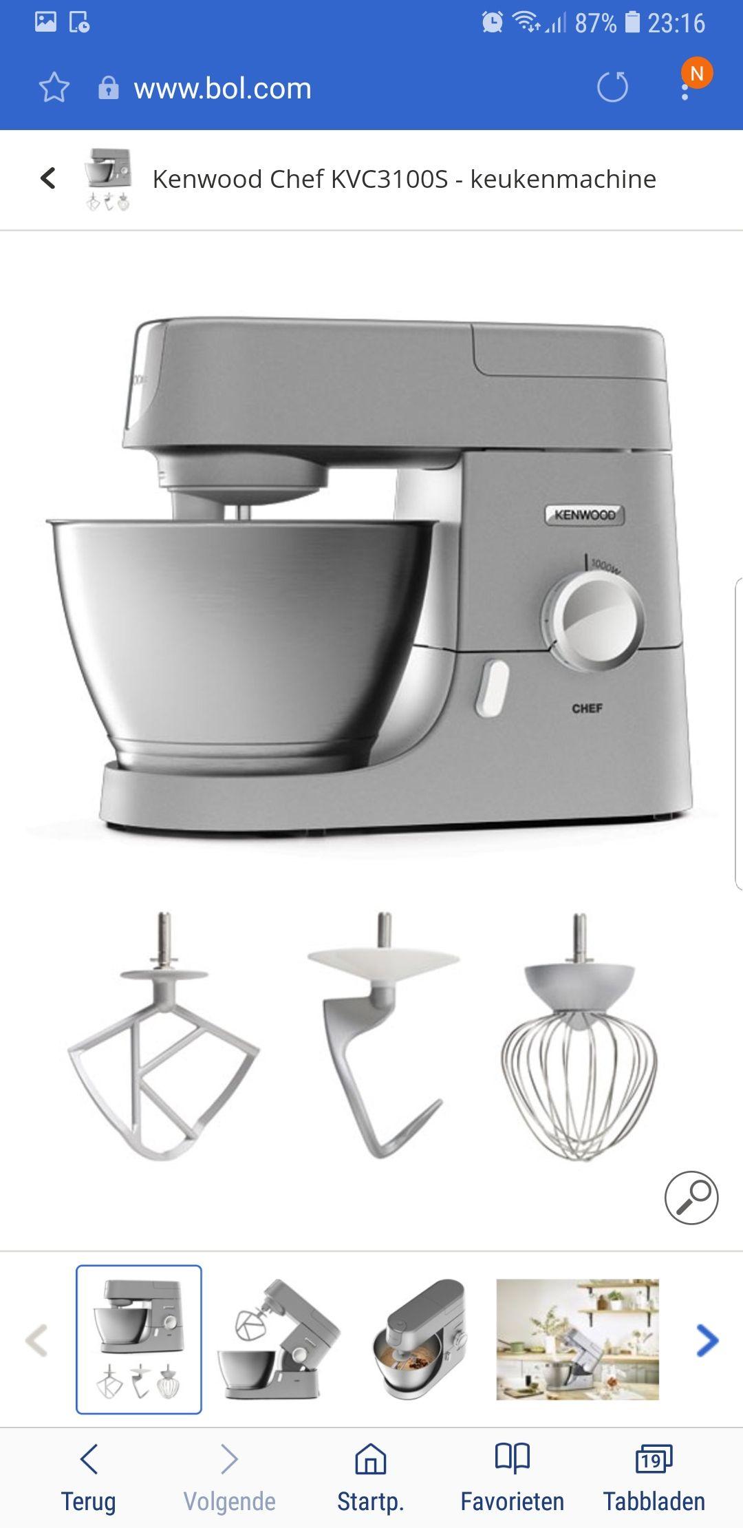 Kenwood Chef KVC3100S - keukenmachine elders vanaf €285e