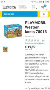 Playmobil westernkoets
