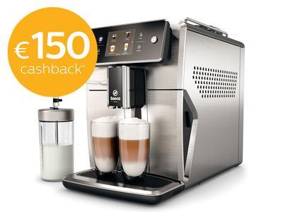 Philips Saeco Espressomachine SM7685/00 €829 na €150 cashback, plus 30.000 ING-rentepunten
