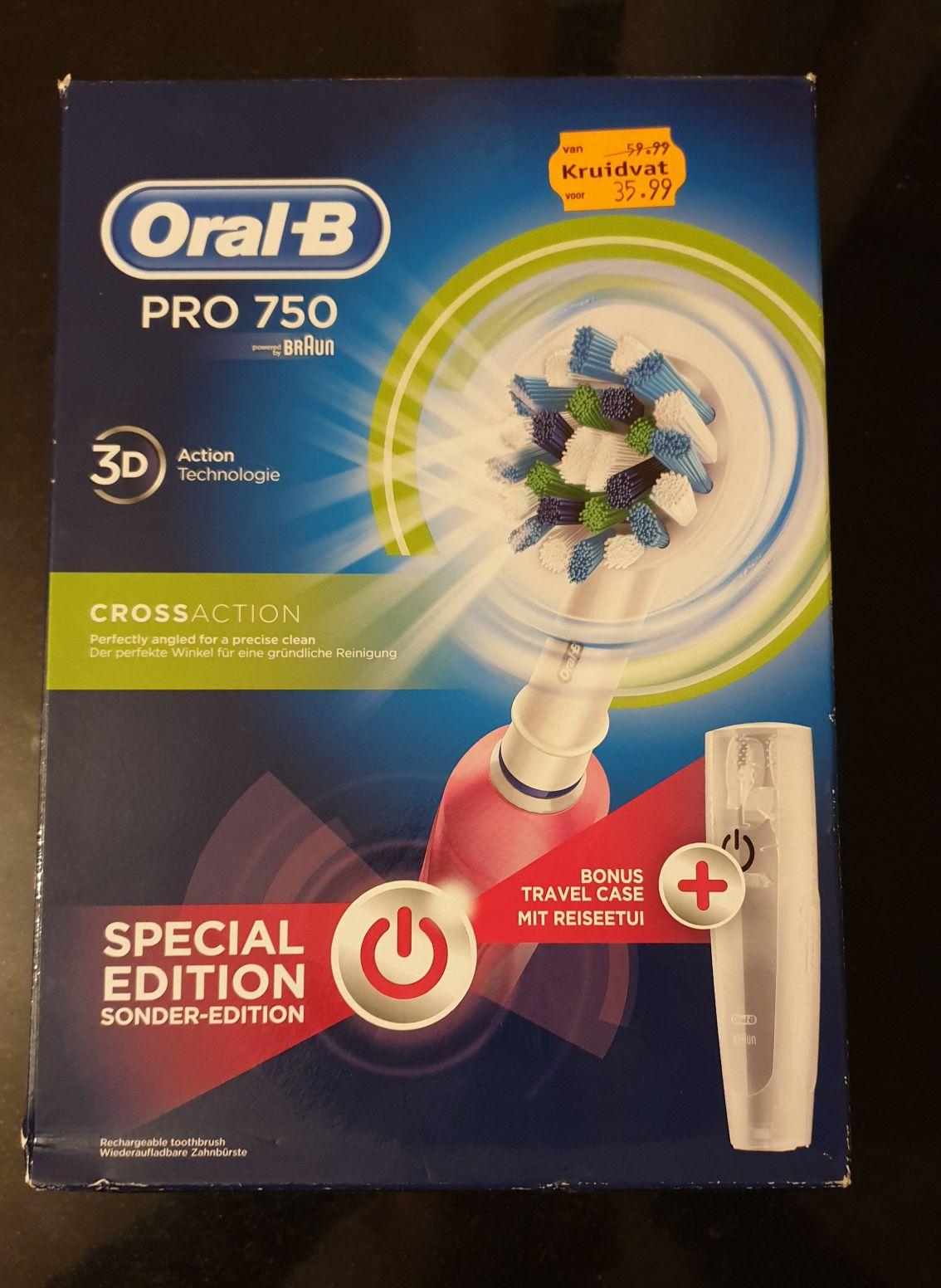 Oral B Pro 750 voor €18,- bij Kruidvat