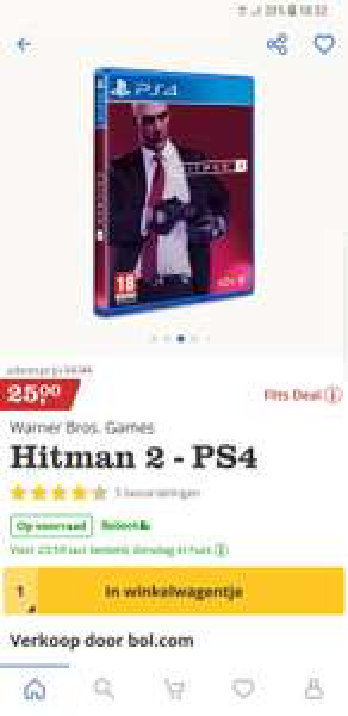 Flitsdeal bol.com - Hitman 2 voor PS4 en XBOX One voor €25,-