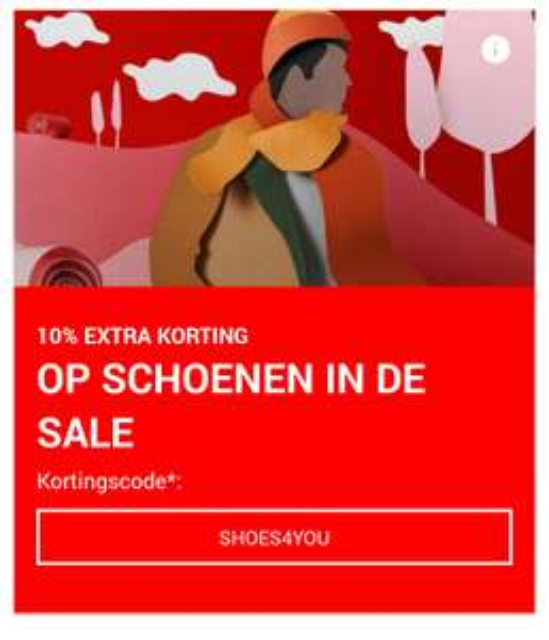 10% extra korting op schoenen in de sale, vanaf 100€