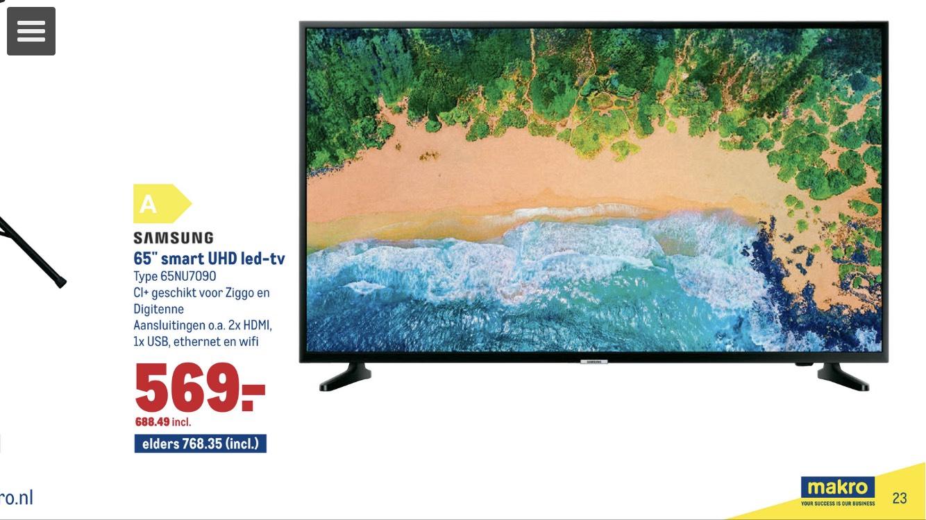 Samsung 65 inch UHD LED-tv elders 849,- euro