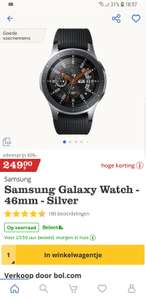 Flitsdeal bol.com - Samsung Galaxy Watch 46mm