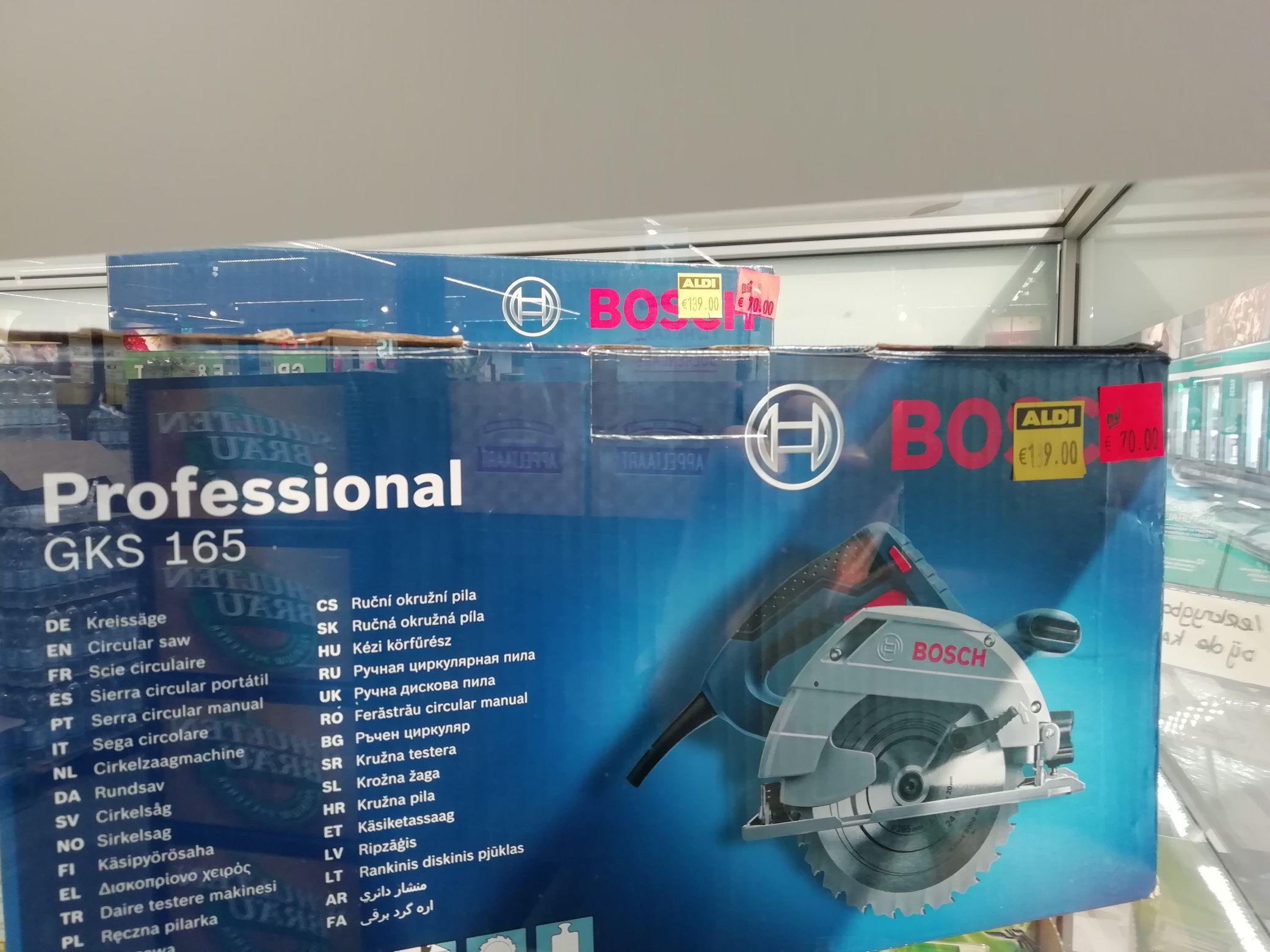Bosch GKS 165 circelzaag 70 euro @ Aldi