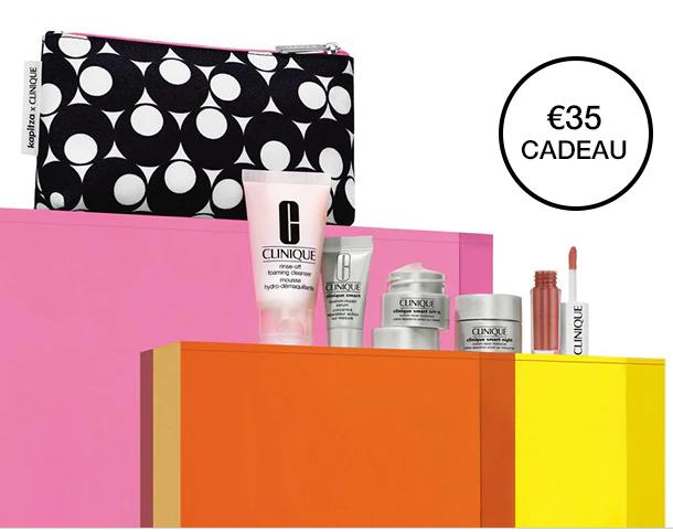 Clinique 5 miniaturen+tasje cadeau bij €49,- besteding