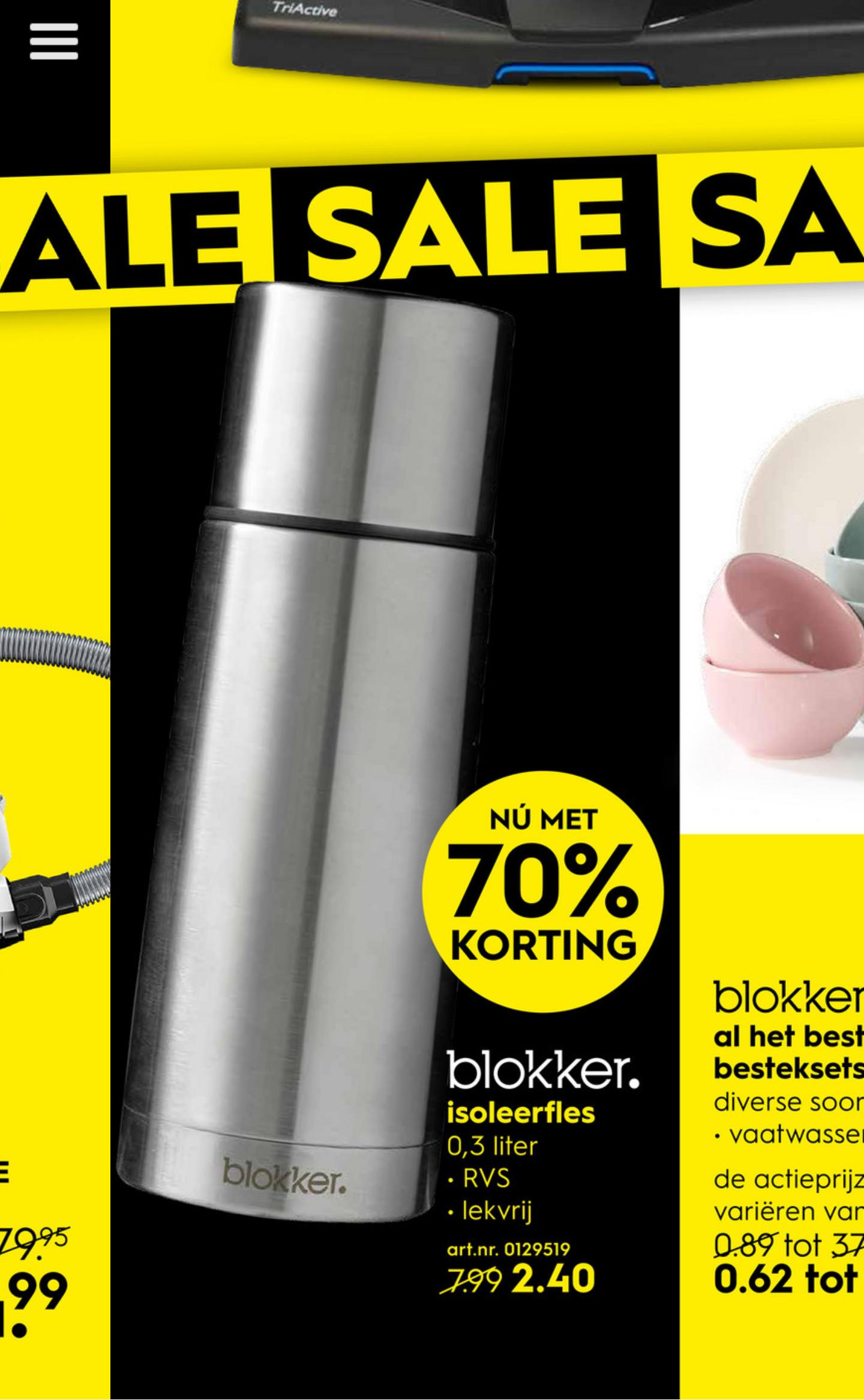 RVS isoleerbeker 0,3 liter bij de Blokker