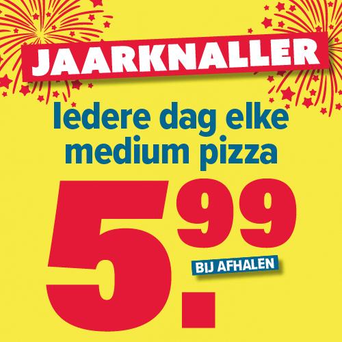 [LOKAAL] Jaarknaller: Iedere dag elke medium pizza €5,99 bij Domino's Leidsche Rijn