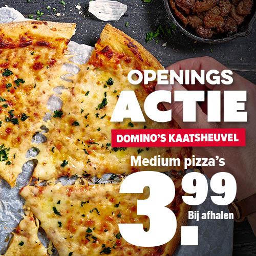 [LOKAAL] Openingsactie: alle medium pizza's €3,99 bij Domino's Kaatsheuvel (Efteling)