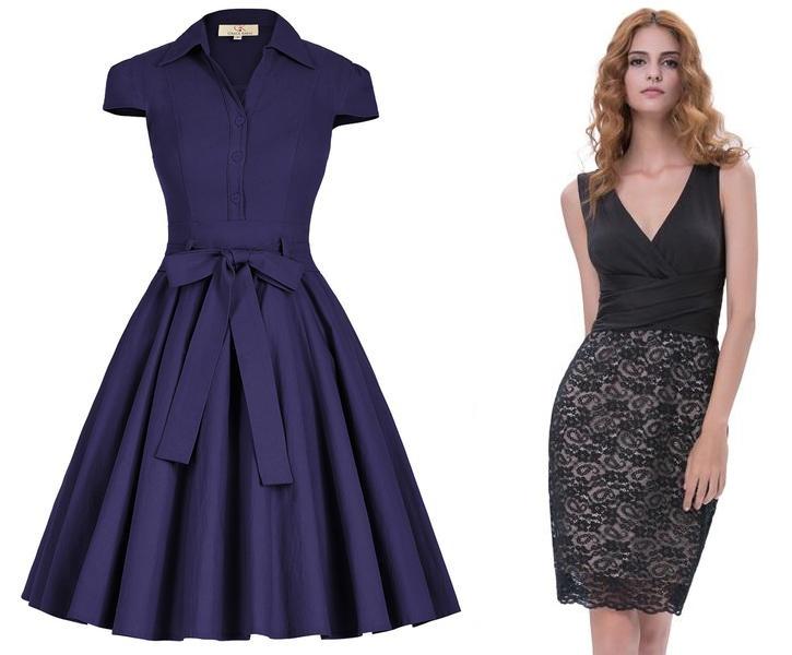 Twee modellen jurken bij GraceKarin met 70% korting