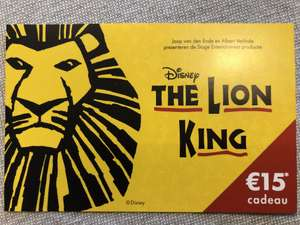 The Lion King of MAMMA MIA! €15,- korting per kaart