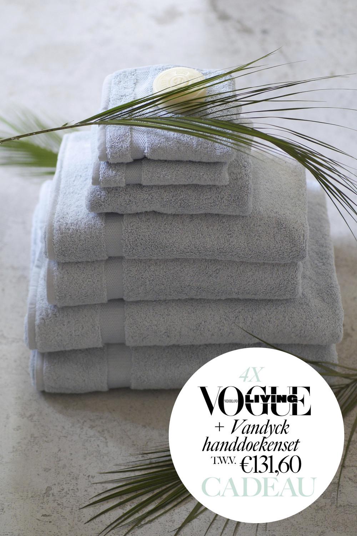 Nu 4x Vogue Living + Vandyck handdoekenset t.w.v. €131,60 samen voor. maar €35! + 6,95 verzendkosten